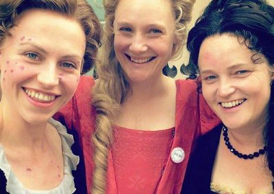 BETH PARKER, ROMOLA & EMMA CUNLIFF- QUEEN ANNE CAST